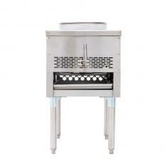 Estufón wok a gas de 1 sección totalmente fabricado en a.inox. ATW-13