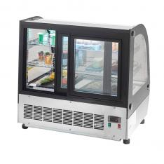 Vitrina refrigerada curva de mostrador de 110 Lts. de capacidad CRDC-35