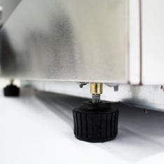 Vitrina refrigerada curva de mostrador de 130 Lts. de capacidad CRDC-46