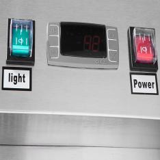Refrigerador vertical de 21.4 pies³ con 1 puerta de cristal