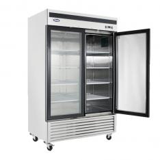 Refrigerador vertical de 44.7 pies³ con 2 puertas de cristal MCF8707GR