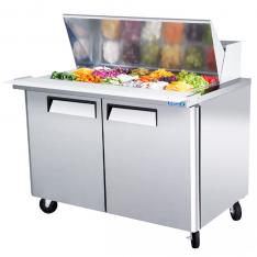 Mesa refrigerada para preparar sándwiches y ensaladas con 2 puerta sólidas MSF8302GR * MRS-122-2P