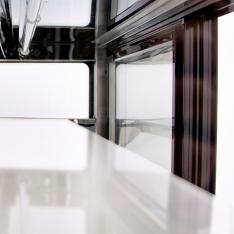 Vitrina refrigerada curva de piso, de 535 Lts. de capacidad WDF177D